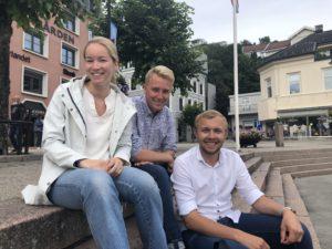 UNGE HØYRESTEMMER: F.v. Amalie Kollstrand, Haagen Poppe Og Erik Johan Tellefsen Lindøe Stiller Strenge Krav Til Klima. Arkivfoto