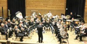 TREDJE: Dirigent Lars Bjørnar Strengenes Leder Indre Torungen Brass Ensemble Til En Flott Tredjeplass I Sin Divisjon. Foto: Privat