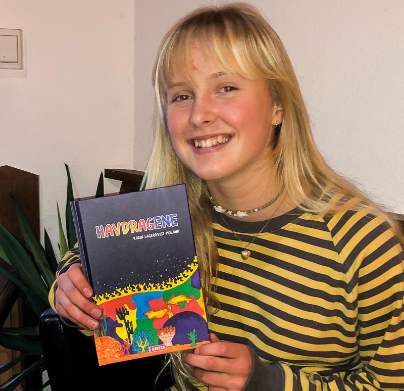 13 ÅR: Karin Lagerqvist Moland Debuterer Som Forfatter. Foto: Gaveca Forlag