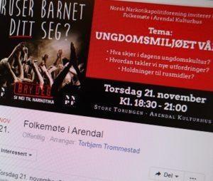 Foto:Skjermdump Fra Facebookarrangementet