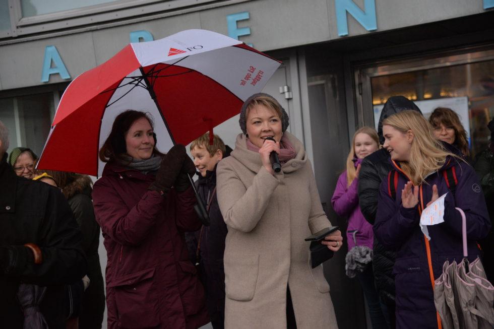 Kvinnedagsmarkering I Ruskevær