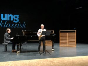 SOLIST: Saksofonist Edwind Michael Grosvold (15) Fra Arendal Skulle Opptre Som Solist Med Kristiansand Symfoniorkester, Torsdag Kveld Denne Uka. Foto: Ung Klassisk