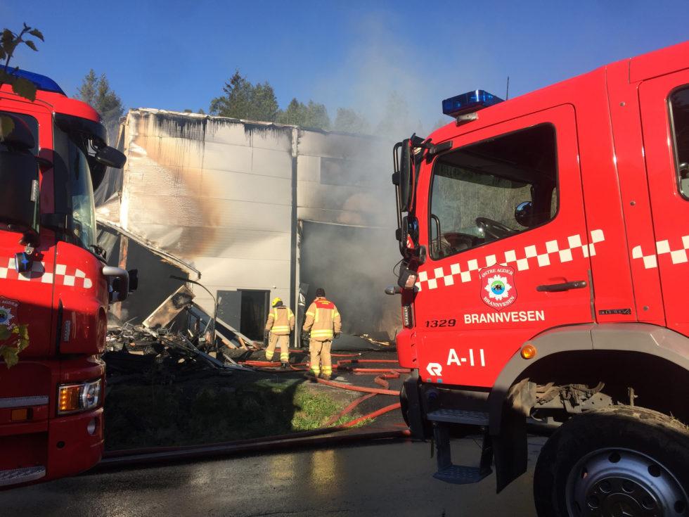 UTBRENT: Eydehavn Trevare Ble Totalt ødelagt Av Brann Natt Til Onsdag.
