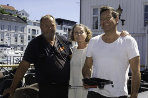 UTEOMRÅDE: Det Er Harald Skog, Janne Jensen Og Kjetil Risan Som Står Bak Den Nye «oasen» I Pollen. FOTO: Torald B Kateraas