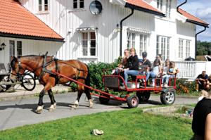 TRADISJON: Å Sitte På En Runde I Hest Og Kjerre Er Stas.
