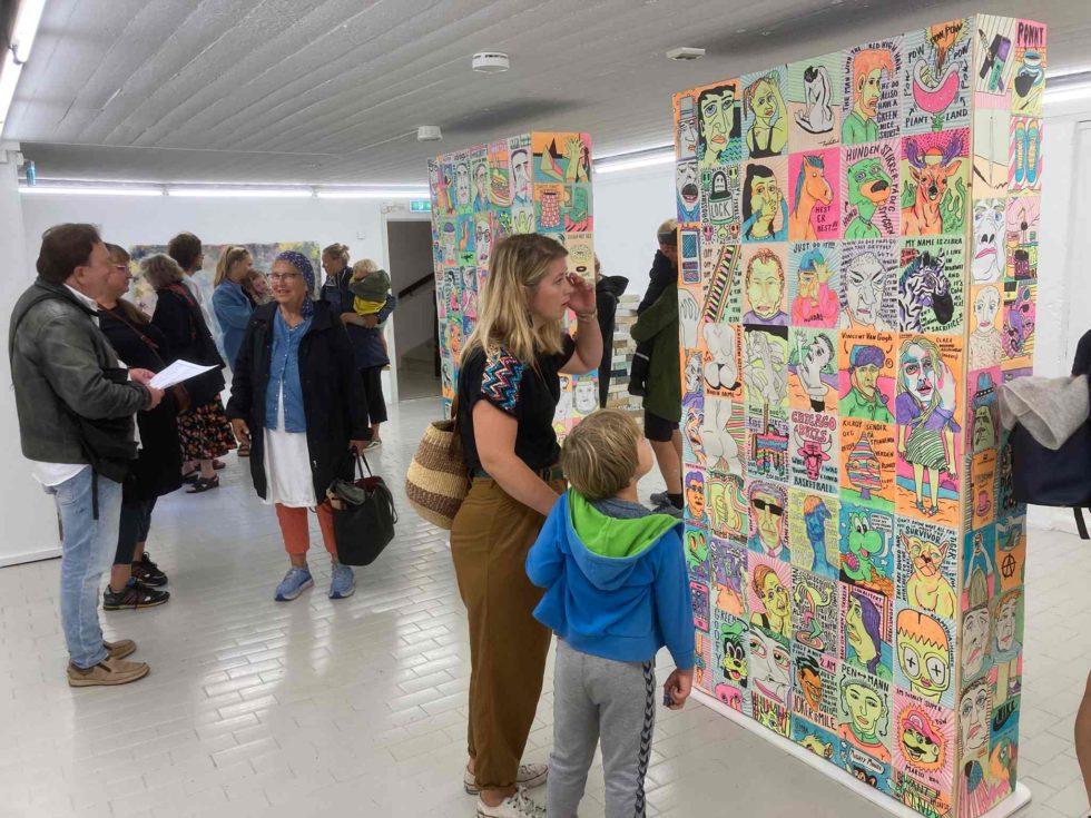 150 PÅ ÅPNINGEN: Nær 150 Personer Besøkte Sørlandsutstillingen Under åpningsdagen Forrige Lørdag. Foto: Reidar Mosland