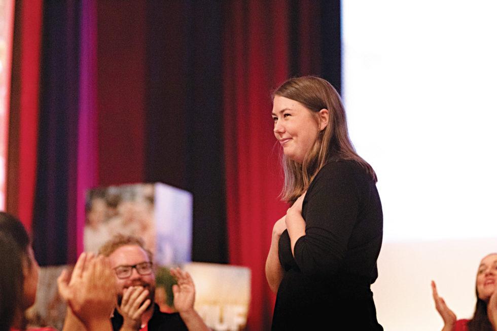 NY AUF LEDER: 25 år Gamle Astrid Willa Eide Hoem Fra Kristiansund Er Ny AUF-leder, Den Yngste Som Har Hatt Dette Vervet Siden Sissel Rønbeck.