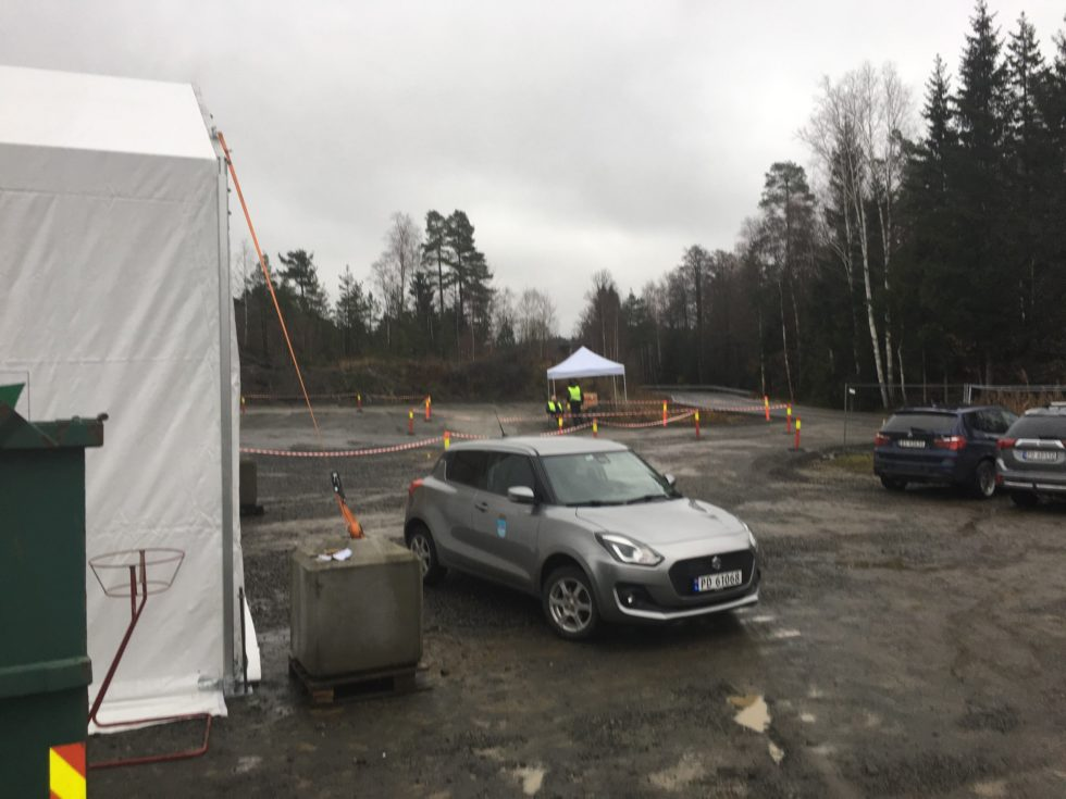 Mange Har Benyttet Seg Av Den Nye Test-stasjonen På Longum Siden Sist Torsdag. Foto: Nils Petter Vigerstøl