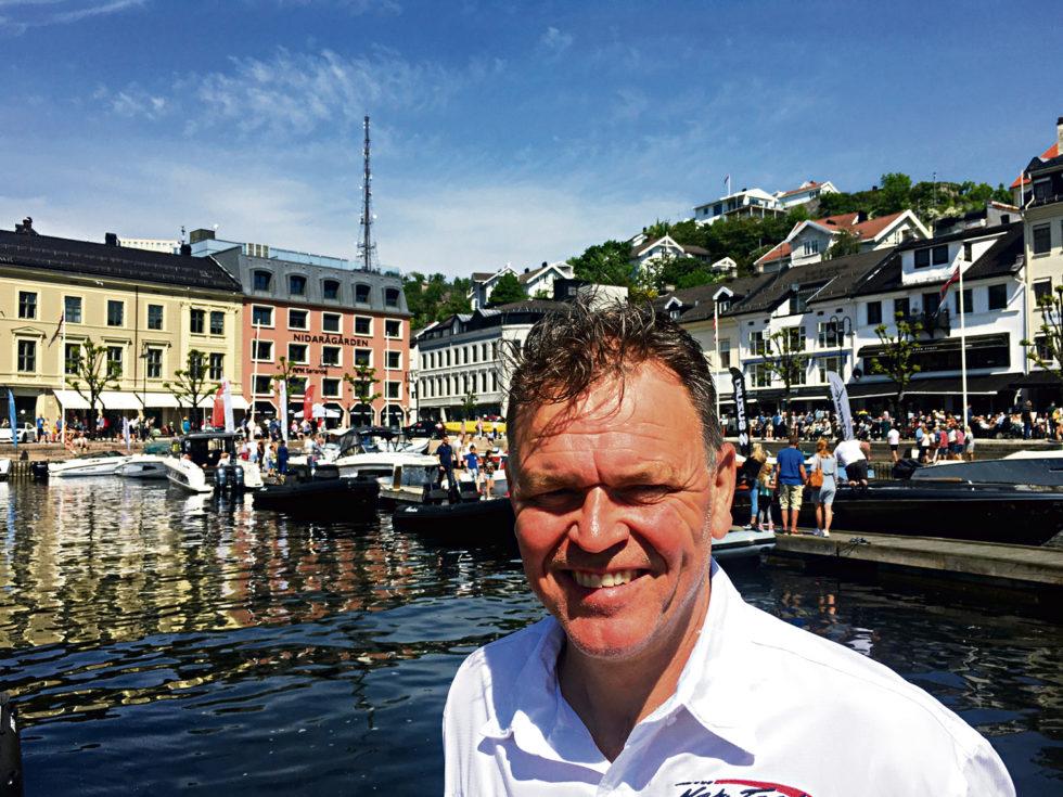 SMILER: Arrangør Rune Høgevoll Hadde All Grunn Til å Smile Under Båt Og Friluftsmessa Forrige Helg. Det Ble Et Arrangement Både Utstillere Og Publikum Var Svært Fornøyde Med.